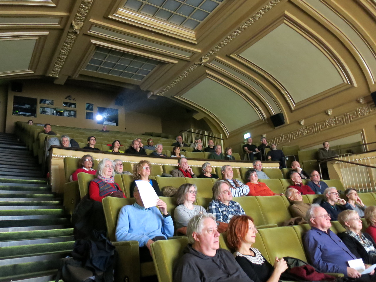 The audience have taken their seats ahead of the screening