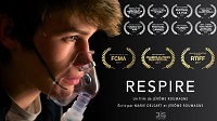 Poster for the french short film Respire